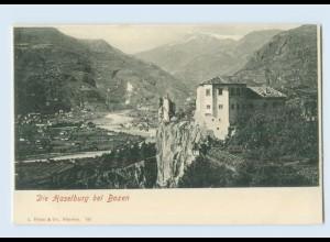 K808/ Die Haselburg bei Bozen Südtirol AK ca.1900