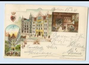 L178/ Berlin Siechen`s Nürnberger-Bierhaus Litho AK 1898