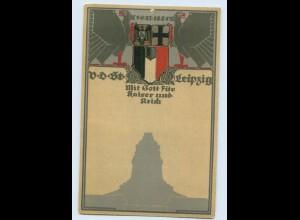 Y15722/ Verband deutscher Studenten Leipzig Litho Künstler AK Wappen ca.1912