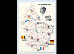 X1K92/ Luxemburg - Le Grand-Duche Landkarten AK Adel ca.1960