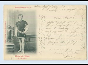 X1K85/ Heinrich Bötel Oper Künstlerpostkarte No.15 AK Verlag Simon Brück 1899