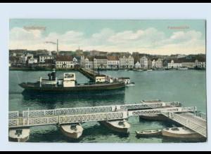L271/ Sonderburg Pontonbrücke 1919 AK Dänemark