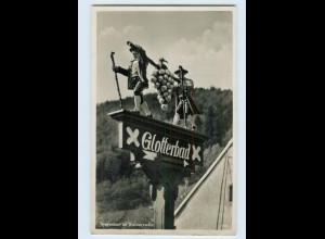 X1N44/ Glotterbad - Wegweiser im Schwarzwald Foto AK 1939