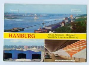 X1M61/ Hamburg Neuer Elbtunnel Altona Othmarschen Ottensen Hafen Waltershof AK