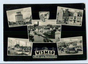 X1P53/ Wismar Werft-und Hafenstadt AK