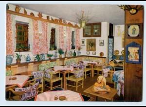 """X1O15/ Sasbachwalden Gaststube des Wirtshaus """"Hohritt"""" AK"""