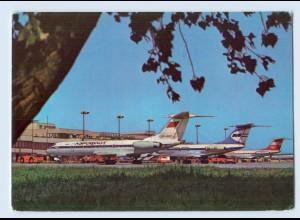 X1N22/ Flughafen Berlin Schönefeld Interflug AK Flugzeuge 1977