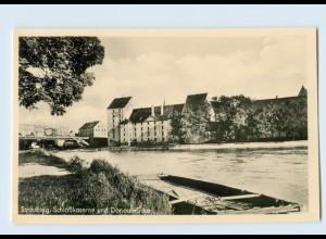 X1P30/ Straubing Schloßkaserne und Donaubrücke AK