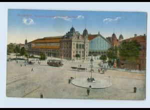 L556/ Budapest West-Bahnhof AK Straßenbahn ca.1914 Ungarn
