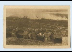 L564/ Soldaten im Schützengraben 1. Weltkrieg AK 1917