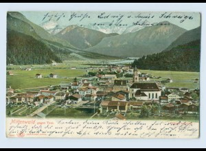 X1P42/ Mittenwald Panorama 1906 AK