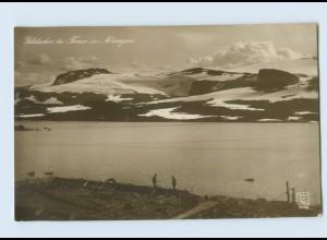 Y460/ Gletscher bei Finse in Norwegen Foto AK ca.1914