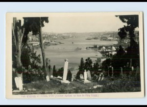 Y718/ Constantinople Türkei Turkey Foto AK Friedhof ca.1930