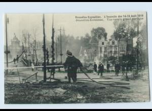 X1R44/ Brüssel Bruxelles-Exposition Kermesse Feuer-Katastrophe AK