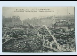 X1R47/ Brüssel Bruxelles-Exposition Kermesse Feuer-Katastrophe AK
