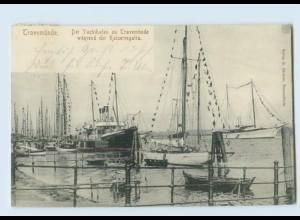 L851.235/ Travemünde Yachthafen Kaiserregatta 1905 AK