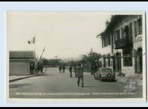 L879/ Hendaye Grenze Zoll Frankreich - Spanien Foto AK ca.1935