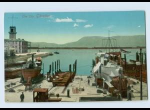 L922/ Gibraltar The Slip Hafen AK ca.1912