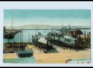 L921/ Gibraltar Hafen AK ca.1912 Kriegsschiffe