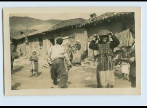 Y746/ Wranja Markt Zigeunerviertel Foto AK Bulgarien ca.1915