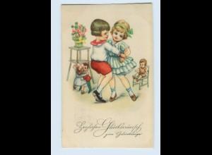 X1R66/ Geburtstag AK Kinder tanzen 1926