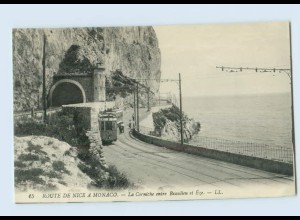 L972/ Route de Nice a Monaco AK Straßenbahn ca.1910