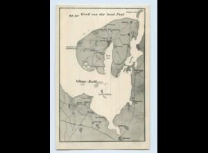 L657-239./ Insel Poel Wismar-Bucht Landkarten AK ca.1912