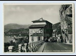 M019/ Ventimiglia Frontiera Italo-Francese Grenze Italien Frankreich Foto AK