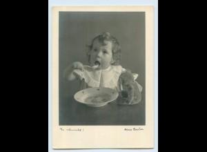 X1R76/ Kleines Kind mit Teddy Bauer Karte Nr. 542 AK