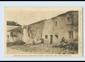 Y764/ Abenhofen Lothringen zerstörte Häsue 1. Weltkrieg AK 1916