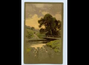 """M388/ Meissner & Buch """"Glühende Farben auf Wald und Flur"""" Litho AK 1906"""