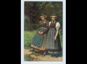 Y054/ Mädchen aus den Prechttal H. Hoffmann AK Schwarzwaldtrachten ca.1912
