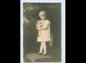 M333/ Mädchen mit Puppe schöne Foto AK ca.1925