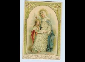 Y1685/ St. Anna Religion Litho Glanz Golddruck AK 1905