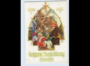 Y1686/ Krippen-Ausstellung München 1927 Verein dt. Krippenfreunde AK Engel