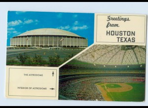 Y683/ USA Greetings from Houston Texas Astrodome Interior Sport Stadion AK 1958