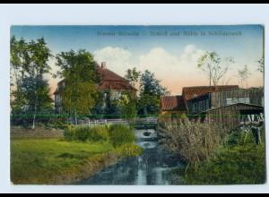 M407/ Bremen Bremer Schweiz Schloß u. Mühle in Schönebeck AK 1915