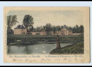 Y708/ Das Kaiserschloß zu Urville bei Metz AK 1899