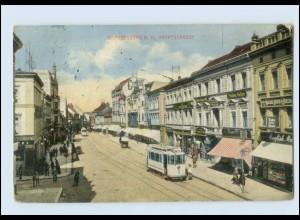 M701-147./ Brandenburg a. H. Hauptstr. Straßenbahn AK 1913