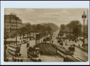 M702/ Berlin Potsdamer Platz Straßenbahn Foto AK 1928