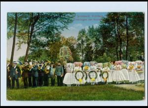 M689-030./ Spreewald Richtfest Einbringen der Krone AK 1913