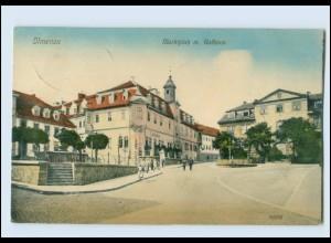 M882-986./ Ilmenau Marktplatz mit Rathaus 1915 AK
