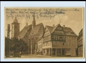 M886-985./ Schmalkalden Altmarkt und Stadtkirche 1928 AK