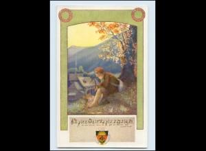 Y568/ Deutscher Schulverein AK Deutsche Lieder Nr. 20 Karte Nr. 99 ca.1918