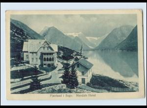 N011/ Fjaerland i Sogn in Norwegen, Mundals Hotel AK 1911