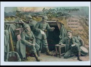 N186/ Aus dem Schützengraben 1. Weltkrieg AK 1915
