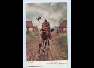 N187/ Im Kriege 1914 Ordonnanzritt durch Masuren WK1 AK