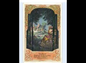 Y021/ Schubertlieder Nr. 104 Deutschtum im Ausland AK A. Welzl ca.1912
