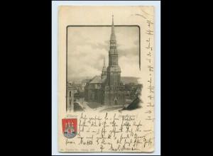 Y087/ Hamburg Altona Hauptkirche AK mit Wappen 1900