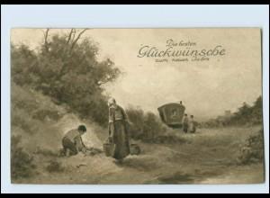 Y183/ Neujahr Kirche Rembrandt-Garvüre Nr. 5079 AK 1914